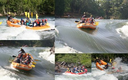 Frolicking in the White Water of River Kali, Dandeli