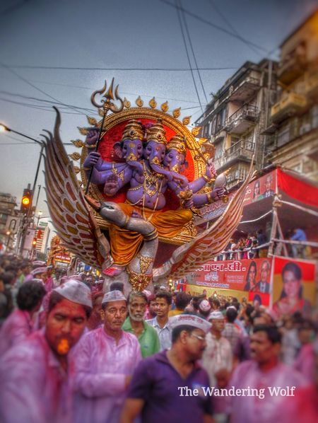 Parade of Ganpati Visarjan