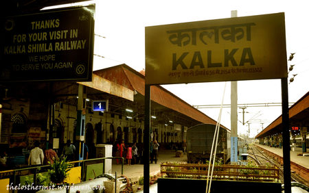 Whistling through the woods in a Time Machine-the train from Kalka to Shimla