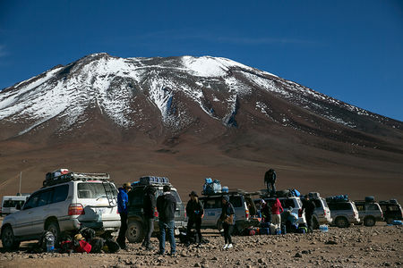 Crossing Salar De Uynui by Jeep