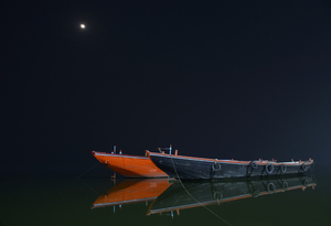 Night Photography At Varanasi