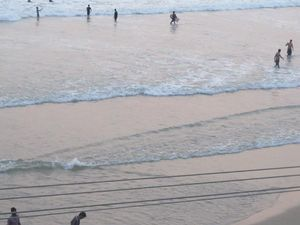 "Kerala ""God's own country"": Kovalam beach."
