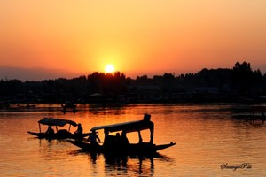 Sunset at Dal Lake, Srinagar