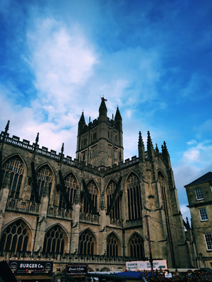Bath City: A Vintage city in England with Roman Architecture.
