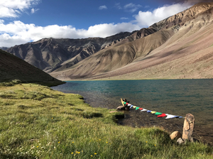 Moon-shaped 'Chandratal' Lake in Spiti