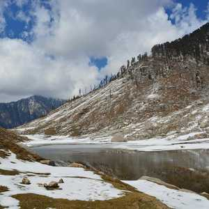 Kareri Lake, Scenic and Unusual Grey lake in the lap of Glacier covered Mountains #offbeatplace