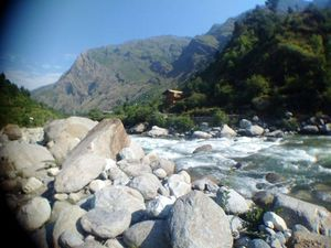 Gushaini and a river