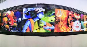 When railway station becomes colourful #streettalk #art