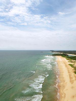 Golden sand beach of Bentota, Sri Lanka