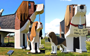 This Beagle-Shaped Airbnb Lets You Sleep inside with Your Doggos