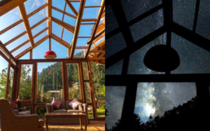 Get over Five-Stars, Dine Under a Million Stars in This House with a Glass Ceiling in Manali
