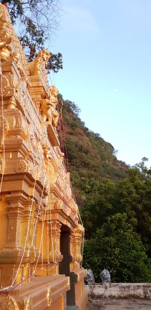 Durga Matha on her lofty perch