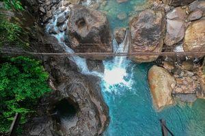 Nongriat Rusty Hanging Bridge.