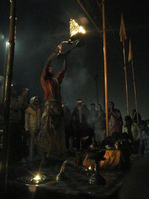 An awesome view of ganga harathi