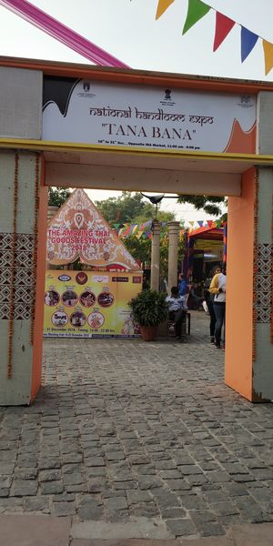 National Handloom Expo and Amazing Thai food festival in DELHI HAAT