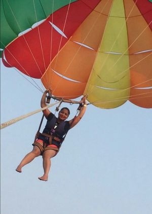 Say yes to parasailing when in Goa..  #adventureactivity #parasailing