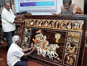 Learned a new skill in Mysore. | The Art of Rosewood Inlay | Mysore | #learningholiday