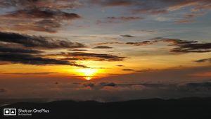 Sunrise from bababudangiri hills