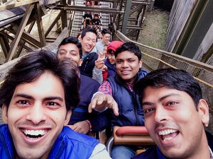 My first roller-coaster ride. #selfiewithaview #tripotocommunity