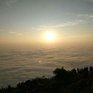 A fluffy blanket of clouds - Skandagiri