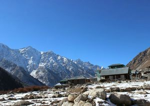 Most scenic view of Chitkul village of Himachal Pradesh