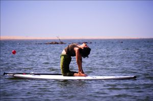 Yoga on Water @ India Surfing Festival @ Konark, Odisha