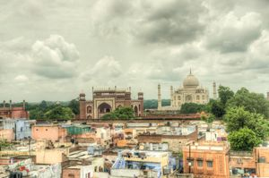 Thumping into Agra