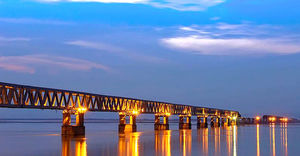 India's longest railroad bridge is finally ready to be launched after 21 years!