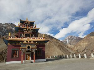 Gue Mummy lama temple, it is believed to be 500 year old.