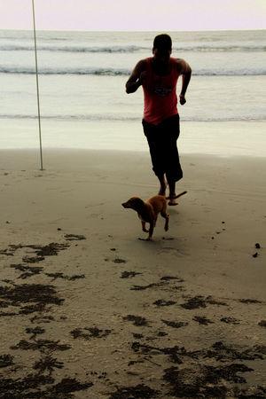 Him, the ocean and me at Goa, Ashvem Beach.