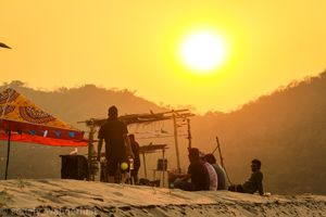 Colordellic 2019, A holi event. And the location is just amazing.. Sunset, Sunrise, Backpacker abode