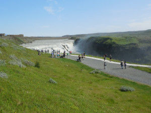 In Iceland's Golden Circle, Gullfoss and Geysir