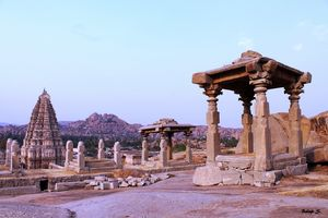 Hampi, At Sunrise And Sunset