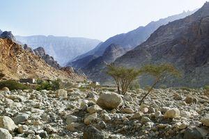 Wadi Naqab Trail hiking Ras al khaima UAE - Jan 25 2019