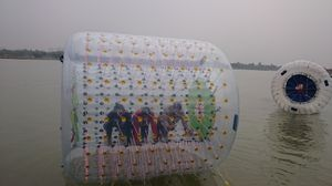 Zorbing in the middle of a city- Eco Park,Kolkata