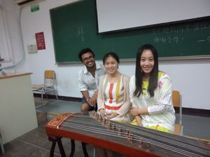 Enjoying Beijing differently- Trying out the Guzheng!