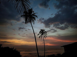 Sunset at Anjuna beach, Goa, India