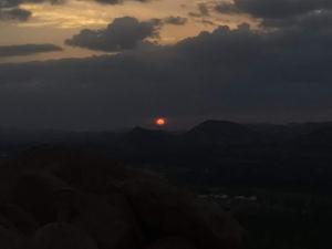 Sunset at Matanga hill, Hampi