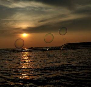 Sunset at Miramar beach, Goa, India