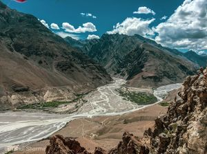 View of dhankar gompa (spiti valley)