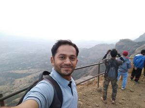Selfi at sunrise point while Climbing the highest peak of Maharashtra on 3rd February 2019.