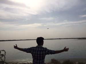Beautiful lake... A place to spend some quality time with friends on the outskirts of Jaipur