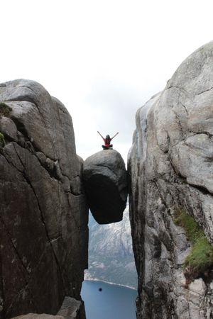 The famous boulder - kjeragbolten