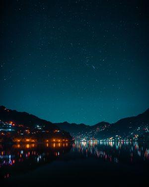 Nainital at night