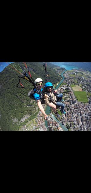 Conquering heights : Paragliding in Interlaken