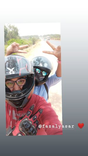 SelfieWithAView #TripotoCommunity  The over enthusiastic pillion rider????????