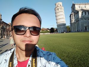 Is my phone or the tower leaning?  #SelfieWithAView #TripotoCommunity