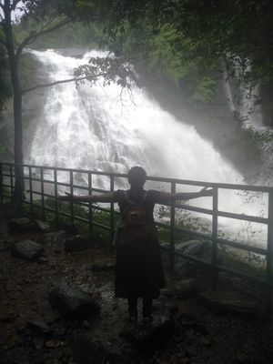 Drenched in Thusharagiri waterfalls