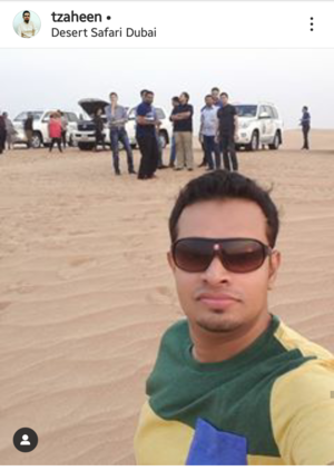 Middle east journey is incomplete without Desert Safari #SelfieWithAView #TripotoCommunity