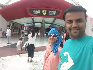 Adding fun to your Life...  Welcome to Ferrari world #SelfieWithAView #TripotoCommunity